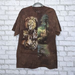 Lion Nature Custom Cut Sew Tie dye The Mountain